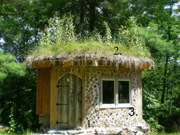 Best Exterior Hobbit House Plans Design With Natural Stone Wall
