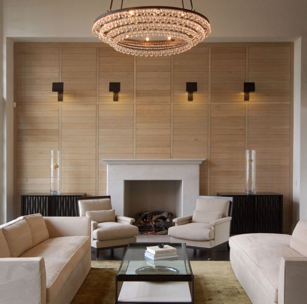 Best Living Space Design With Modern Furniture also Chandelier and Wall Mounted Lamps