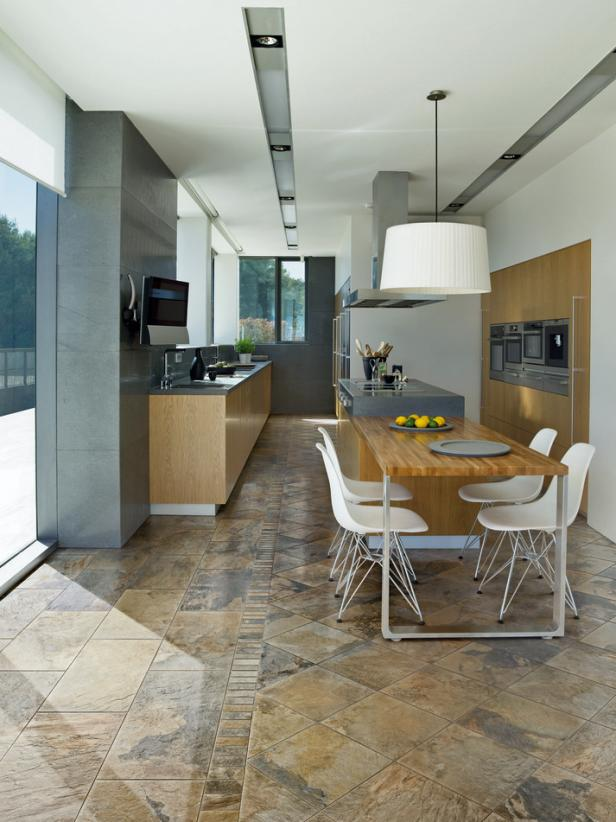Bewitching Kitchen With Table and Chair also Marble Ceramic Tile Design