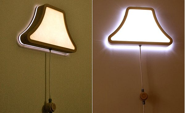 Cute Wall Mounted Lamps Design With Impressive Lamp Shade Idea