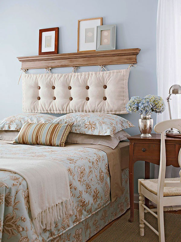 Horrible Interior Unique Bedroom Furniture With Shelve also Tufted Headboard