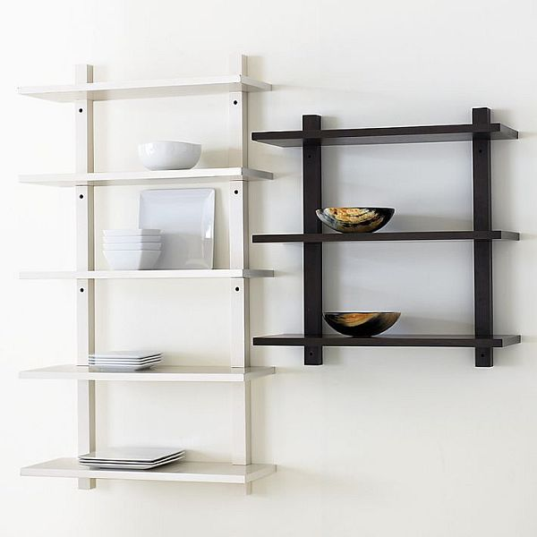 Impressive Style Of Black and White Wall Mounted Storage Idea