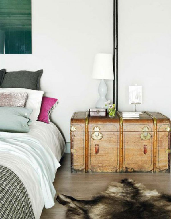 Pleasant Bed also Lamp and Photo On Side Table For Bedroom Design