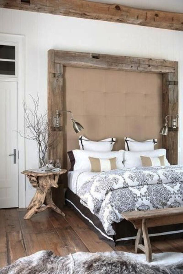 Seductive Bed With Wooden Headboard Frame for Unique Bedroom Furniture