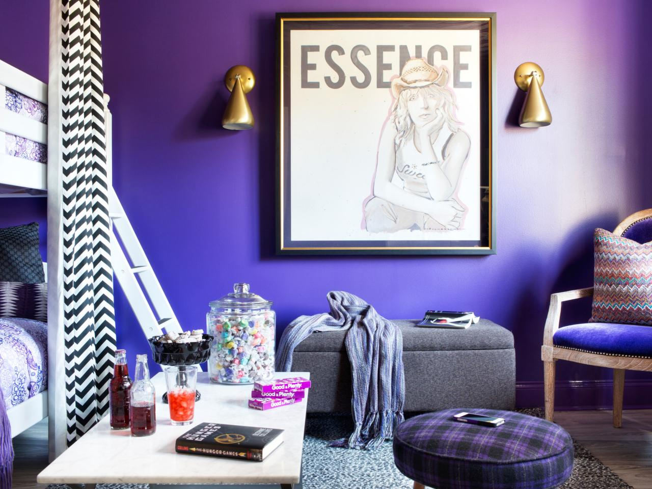 Stylish Interior Tween Bedroom Ideas With Bunk Beds also White Cofee Table