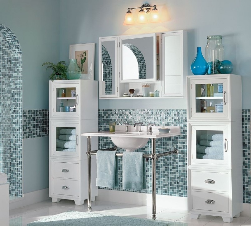 Wondrous Backsplash also Wall Lamp plus Shelve and Mirror