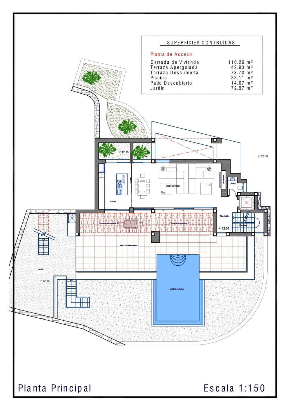 Agreeable Floor Plan With Spacious Living Space and Terrace Design
