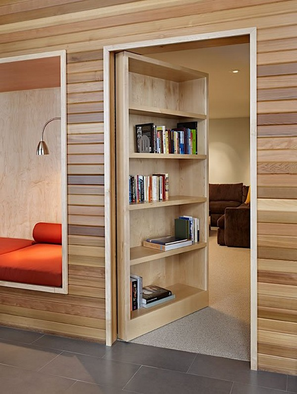 Amazing Design Of Hidden Door Bookshelve For Designing Bedroom and Living Room
