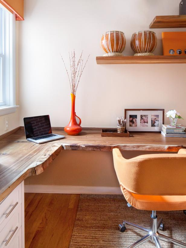 Captivating Attractive Interior Room Using Wooden Contemporary Computer Desk And Office  Chair Nice Design