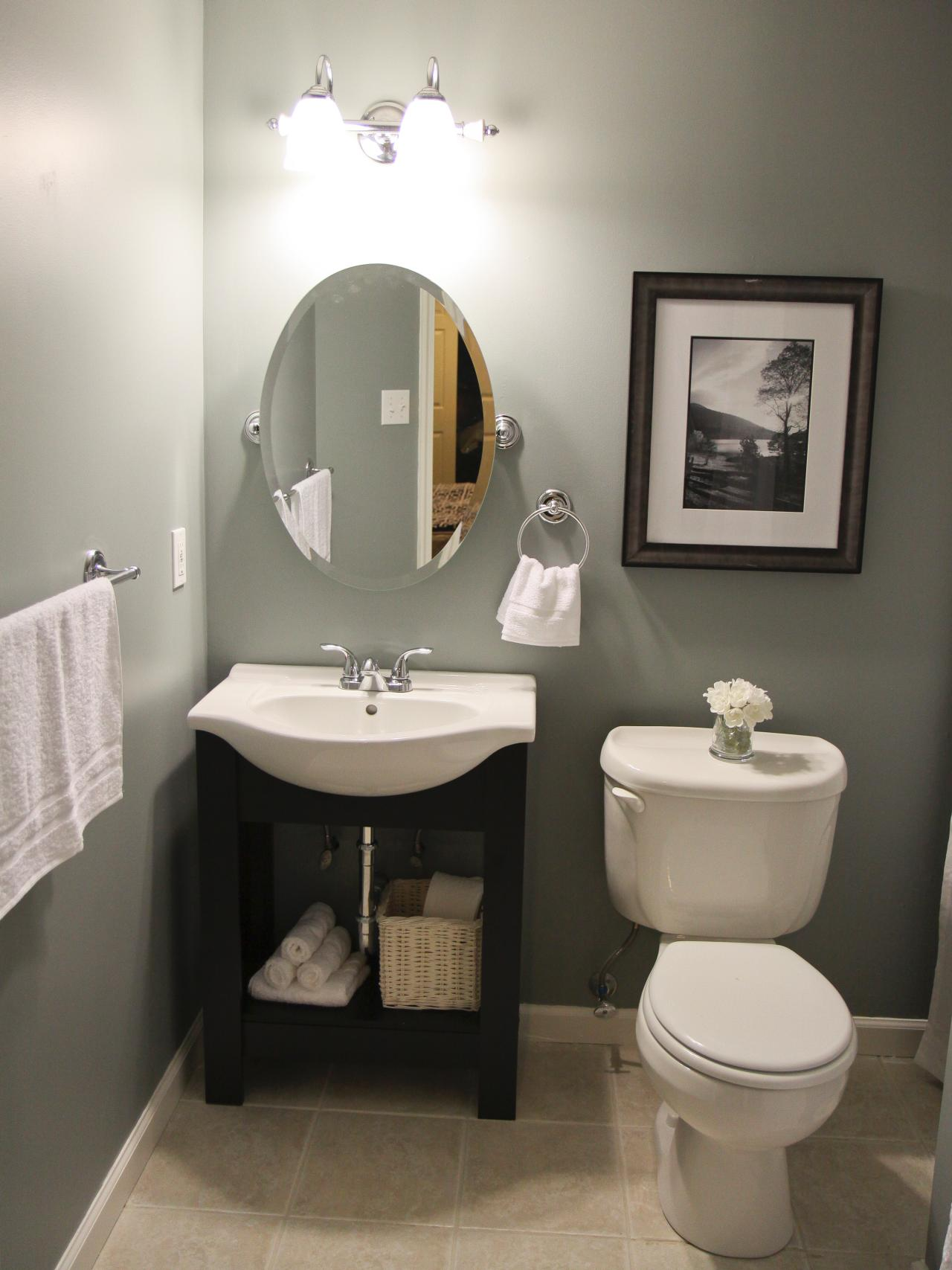 Beckoning Interior Small Bathroom With Simple Vanity Style Beside Toilet
