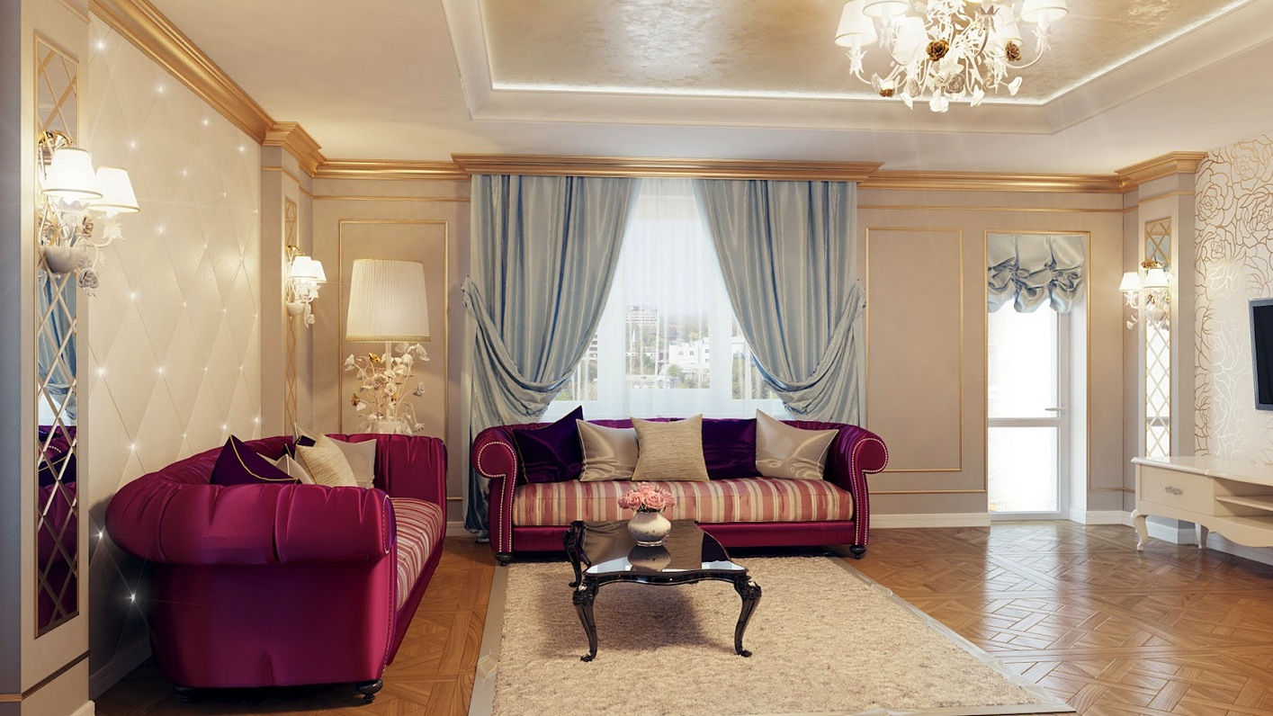 Purple Living Room for Vibrant Living Space - MidCityEast
