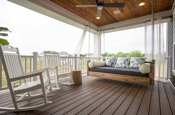 Inviting Outdoor Bed Swing also Rocking Chair For Terrace Decor