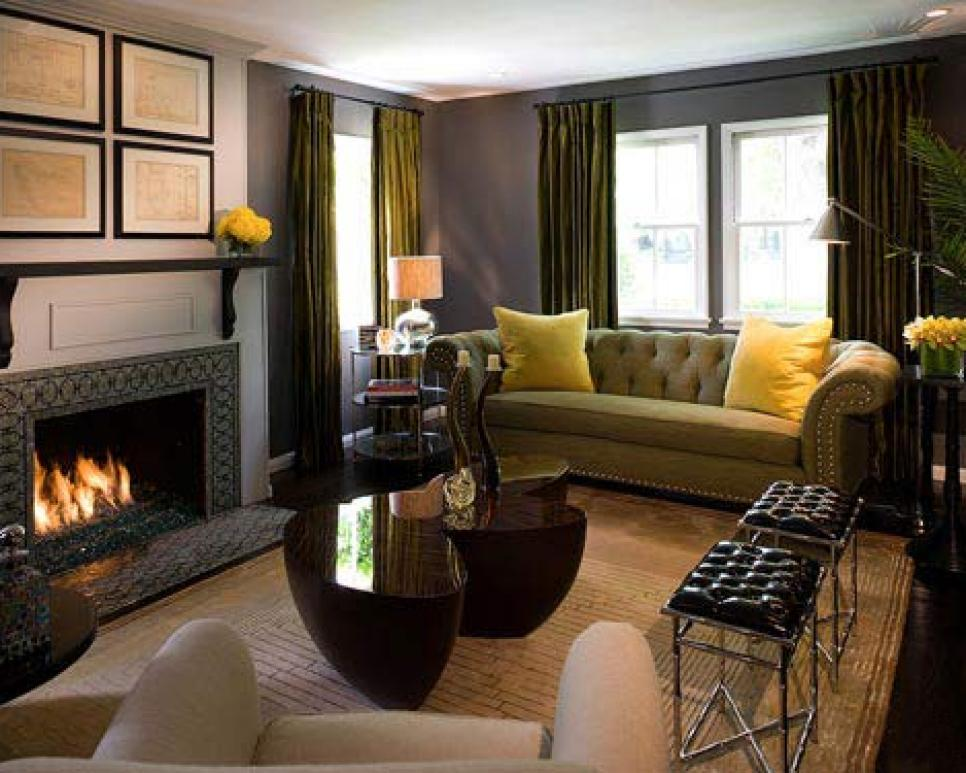Superbe Lovely Living Area With Fireplace Hearth Ideas Also Yellow Sofa