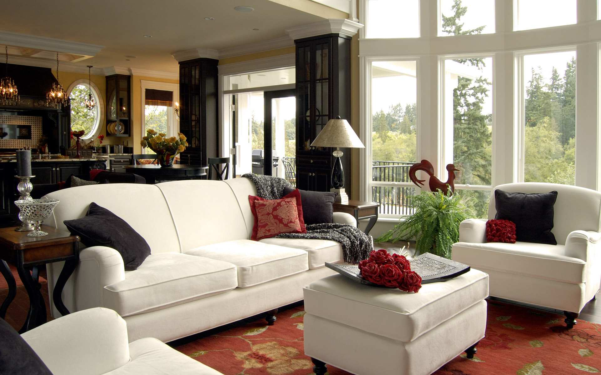Luring Interior Living Room Inspiration With White Sofa and Table