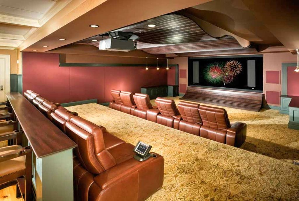 Magnificent Built In Lamp For Basement Lighting Ideas also Neat Sofa
