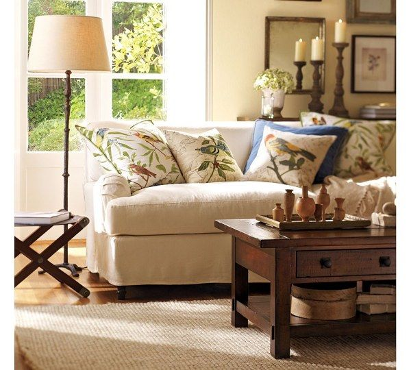 Magnificent Sofa Beside Floor Lamp Plus Table For Room Decor