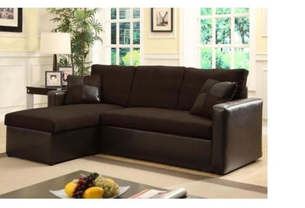 Magnificent Style Of Dark L Shape Sofa With Storage and Pillow