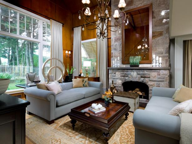 Nice Living Room Concept Using Sofa and Table also Fireplace