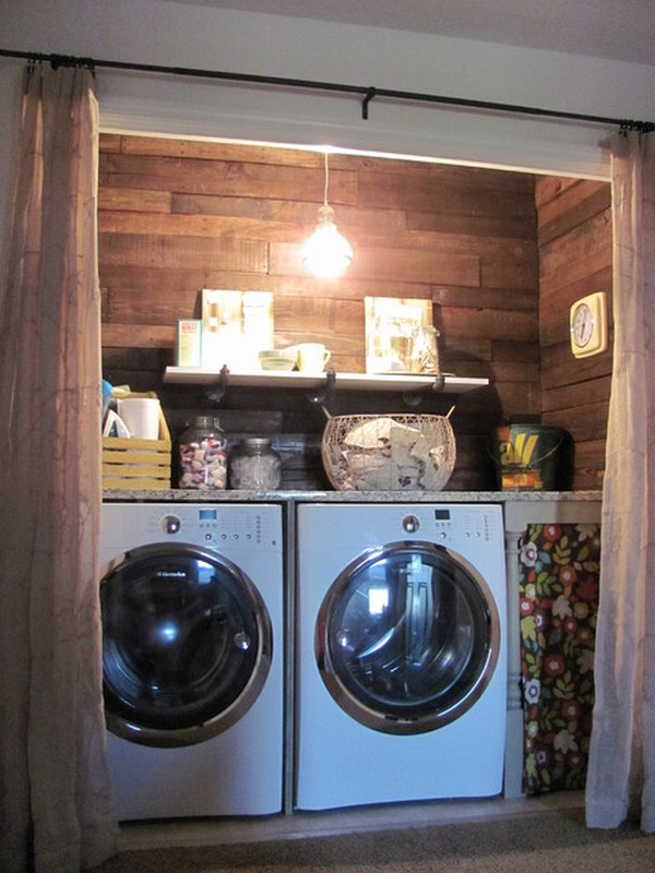Laundry Room Curtains As A Trick To Wonderful Clutter Free