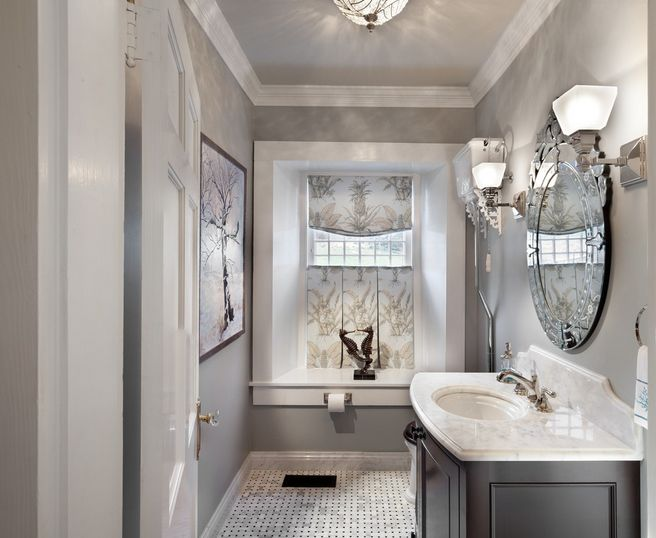 Small Bathroom Design With Simple Cabinet Using Single Sink and Faucet Style
