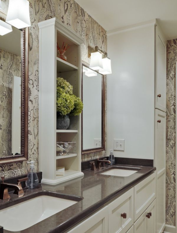 Stunning Style Of Narrow Bathroom Cabinet Between Mirrors and Wall Lamps  Narrow  Bathroom Cabinet as. Thin Bathroom Mirror Cabinet