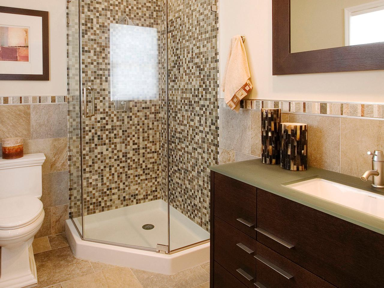 Superb Remodel Small Bathroom Ideas With Visible Shower Area Beside Toilet