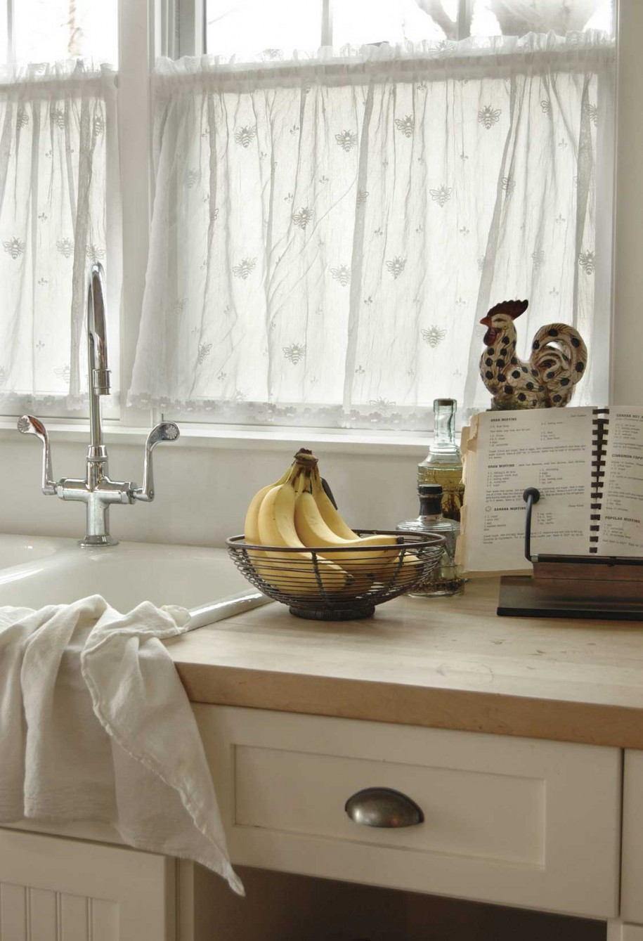 Winsome Fabric Window Curtain also Single Sink and Stainless Steel Faucet