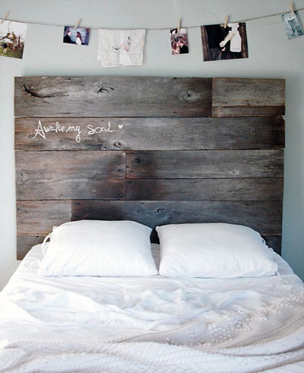 Astonishing Bed With Rustic Wood Headboard also Magnificent Photos Display