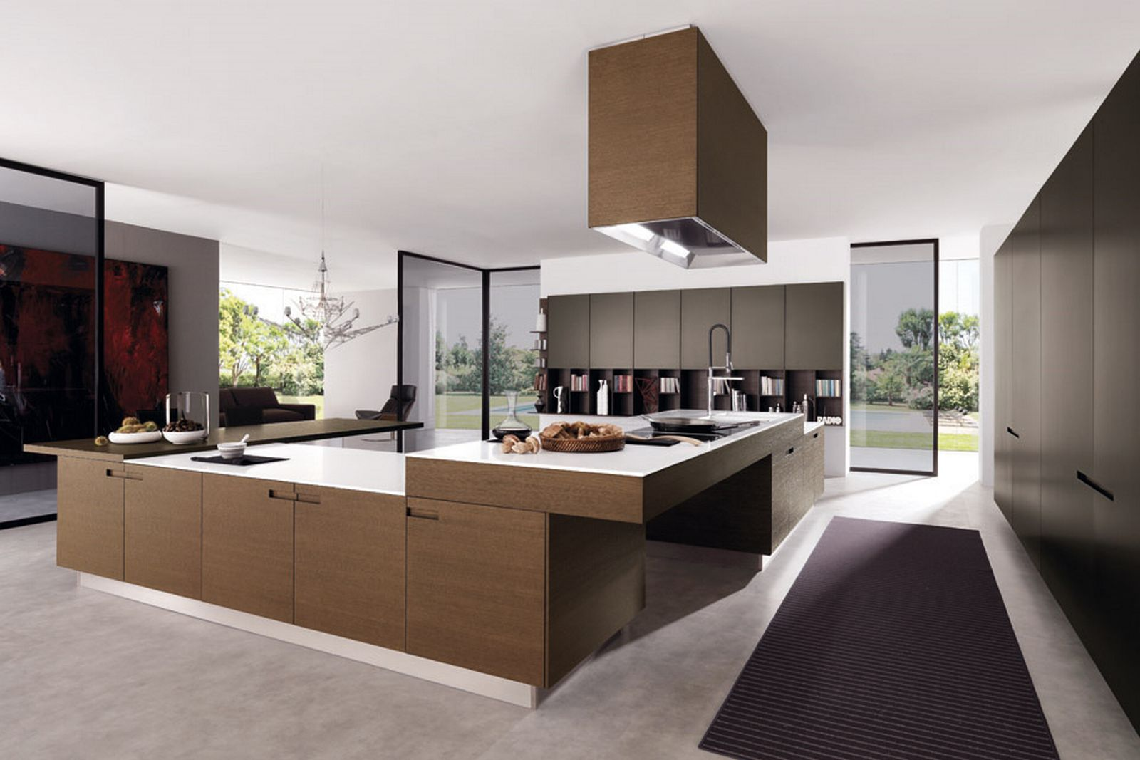 Best Concept Of Modern Kitchen Designs Using Elegant Cabinet and Windows