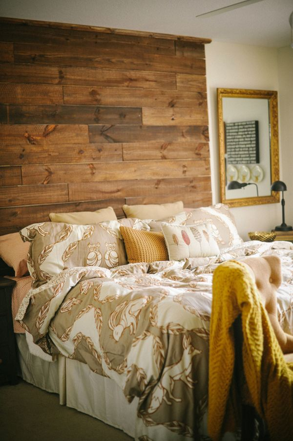 Charming Bed and Pillow also Rustic Wood Headboard For Bedroom