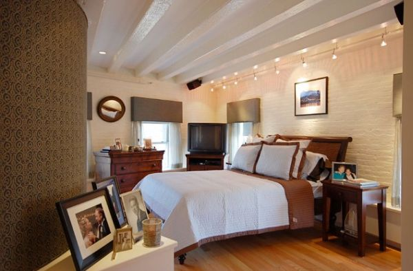 Fantastic Bed Between Tables Above Cute Wall Lights For Bedroom