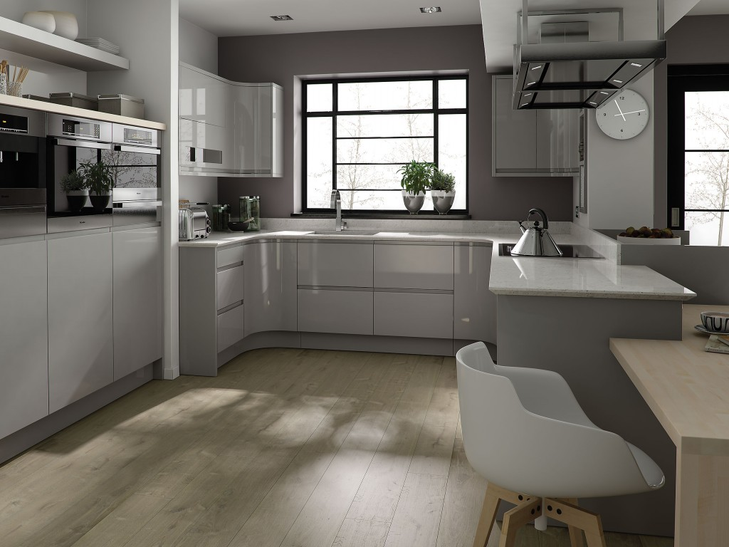 Gorgeous Cabinet and Chair also Wood Floors In Kitchen Design