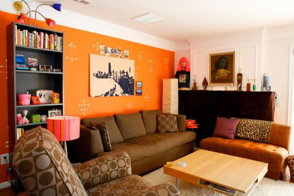 Designing and Decorating the Orange Living Room for the Stylish ...