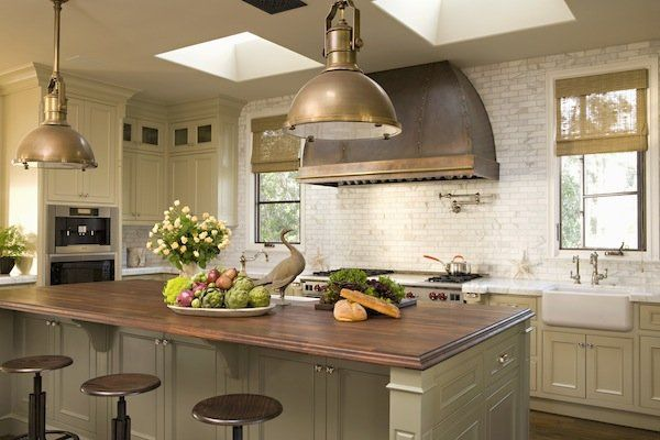 Lavish Kitchen Decor With Subway Tiles Backsplash also Bar Table and Stools