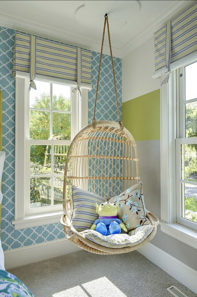 Marvelous Interior Room With Swing Chair Indoor With Comfortable Cushions