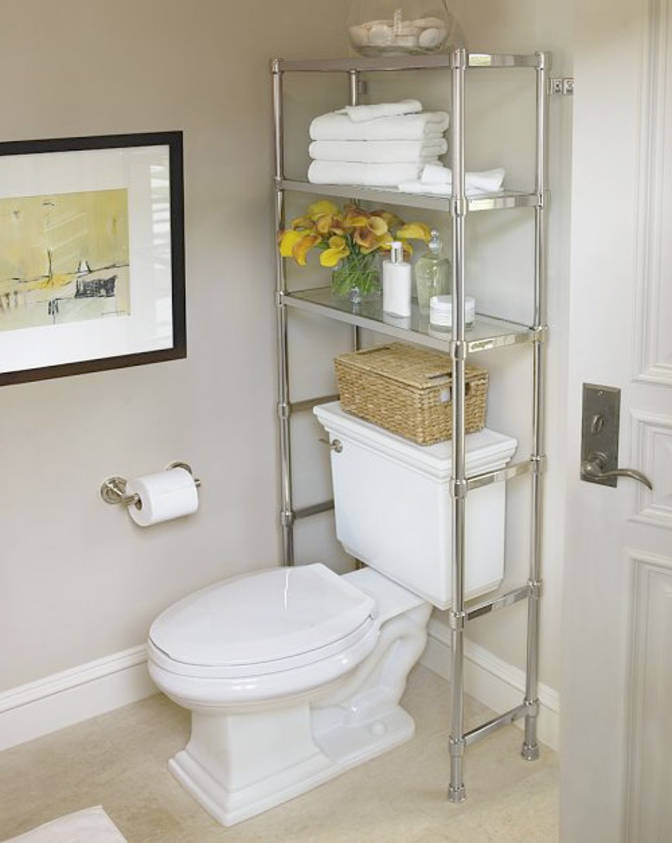 Seductive Chrome Bathroom Cabinet Storage For Toiletries and Hook Above Toilet