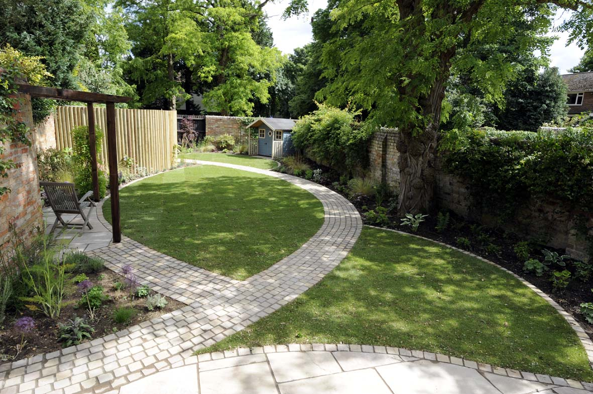 Sublime Garden Plans With Grasses also Brick Floor Path Plus Simple Patio