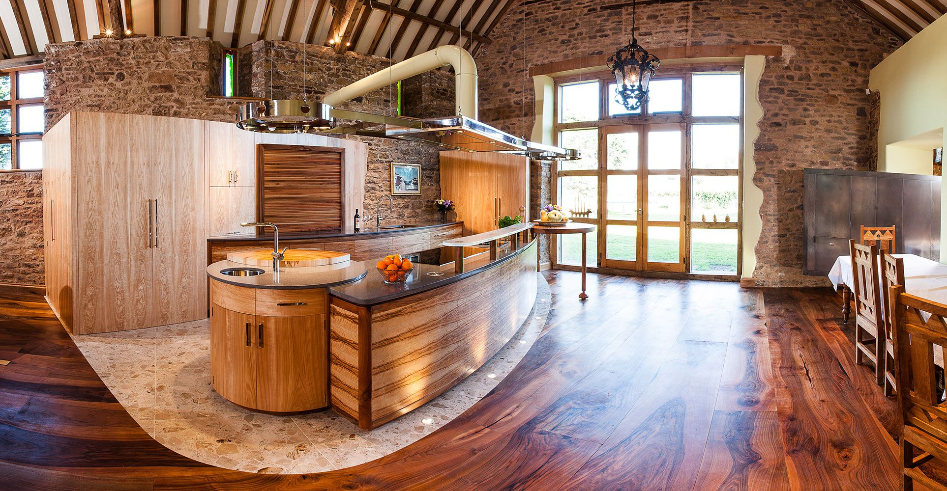 Teasing Concept Of Wood Floors In Kitchen also Bar Table